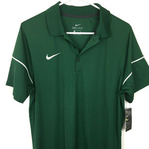 NWT Nike Small Dry Fit Gorge Green Team Issue Polo